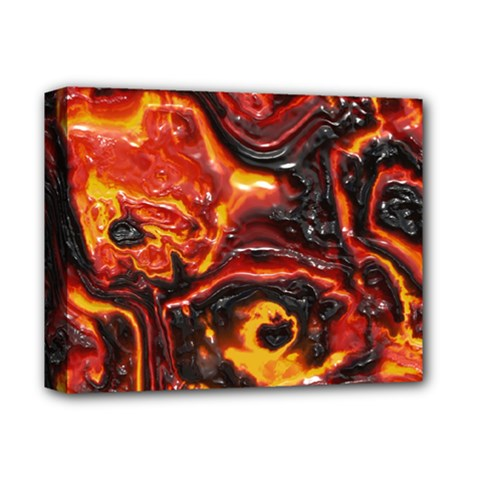 Lava Active Volcano Nature Deluxe Canvas 14  X 11  by Alisyart