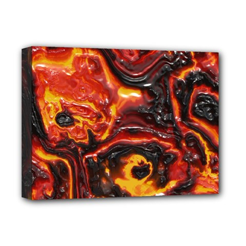 Lava Active Volcano Nature Deluxe Canvas 16  X 12   by Alisyart