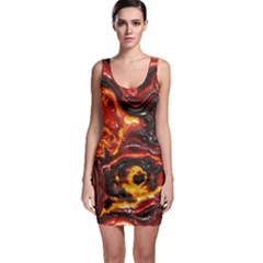 Lava Active Volcano Nature Sleeveless Bodycon Dress by Alisyart