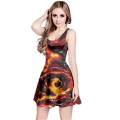 Lava Active Volcano Nature Reversible Sleeveless Dress by Alisyart