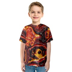 Lava Active Volcano Nature Kids  Sport Mesh Tee by Alisyart