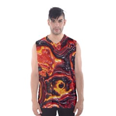 Lava Active Volcano Nature Men s Basketball Tank Top by Alisyart