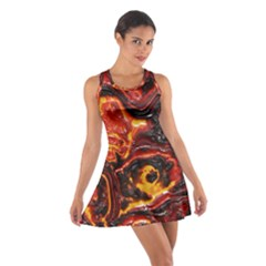 Lava Active Volcano Nature Cotton Racerback Dress by Alisyart