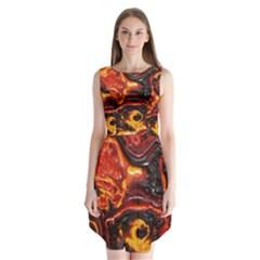 Lava Active Volcano Nature Sleeveless Chiffon Dress   by Alisyart