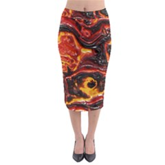 Lava Active Volcano Nature Midi Pencil Skirt by Alisyart