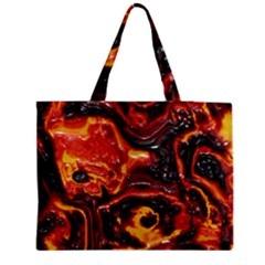 Lava Active Volcano Nature Medium Tote Bag by Alisyart
