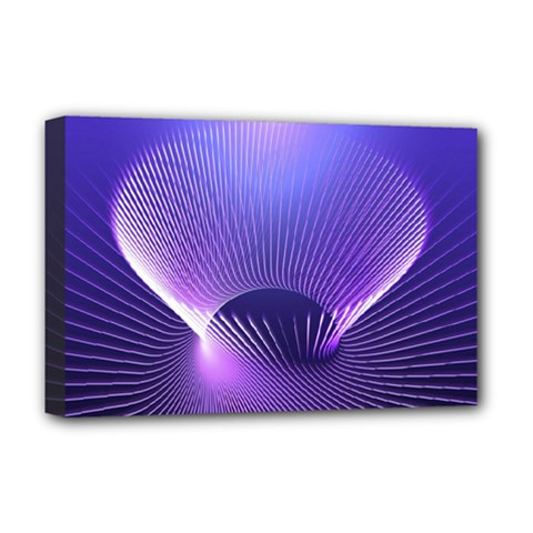 Lines Lights Space Blue Purple Deluxe Canvas 18  X 12   by Alisyart