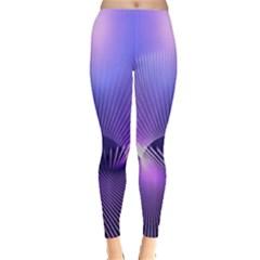 Lines Lights Space Blue Purple Leggings  by Alisyart