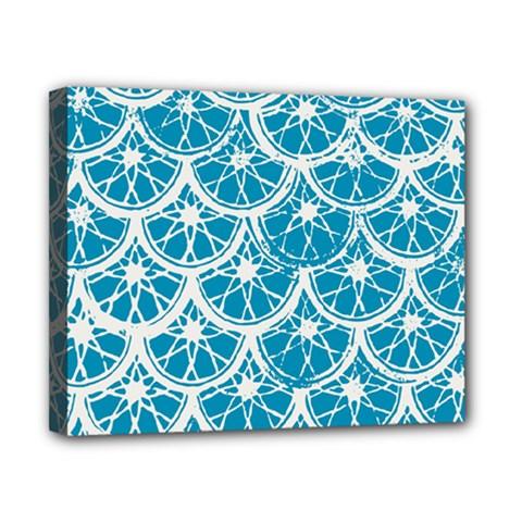 Lime Blue Star Circle Canvas 10  X 8  by Alisyart