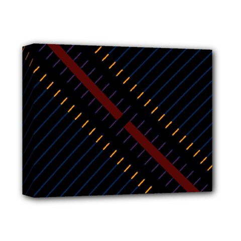 Material Design Stripes Line Red Blue Yellow Black Deluxe Canvas 14  X 11  by Alisyart