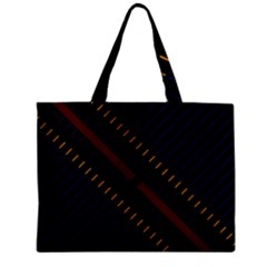 Material Design Stripes Line Red Blue Yellow Black Zipper Mini Tote Bag by Alisyart
