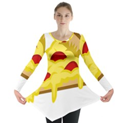 Pasta Salad Pizza Cheese Long Sleeve Tunic  by Alisyart