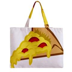 Pasta Salad Pizza Cheese Medium Tote Bag by Alisyart