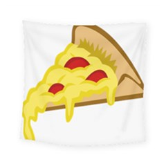 Pasta Salad Pizza Cheese Square Tapestry (small) by Alisyart