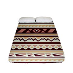 Pattern Tribal Triangle Fitted Sheet (full/ Double Size) by Alisyart