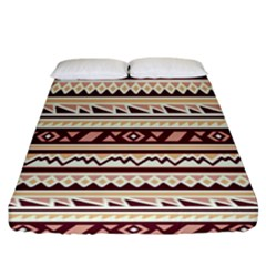 Pattern Tribal Triangle Fitted Sheet (california King Size) by Alisyart