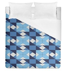 Radiating Star Repeat Blue Duvet Cover (queen Size) by Alisyart