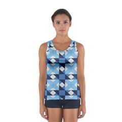 Radiating Star Repeat Blue Women s Sport Tank Top  by Alisyart