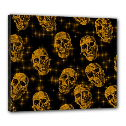 Sparkling Glitter Skulls Golden Canvas 24  X 20  by ImpressiveMoments