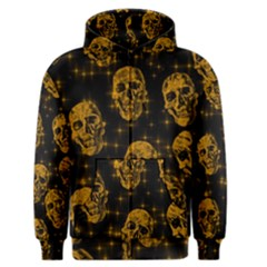 Sparkling Glitter Skulls Golden Men s Zipper Hoodie by ImpressiveMoments