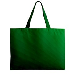 Green Beach Fractal Backdrop Background Zipper Mini Tote Bag by Simbadda