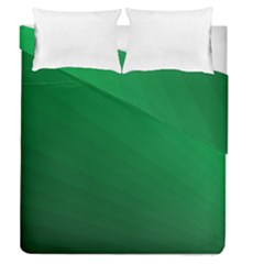 Green Beach Fractal Backdrop Background Duvet Cover Double Side (queen Size) by Simbadda