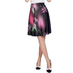 Colour Of Nature Fractal A Nice Fractal Coloured Garden A-Line Skirt by Simbadda