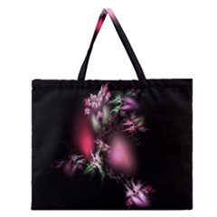 Colour Of Nature Fractal A Nice Fractal Coloured Garden Zipper Large Tote Bag by Simbadda