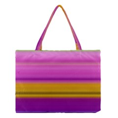 Stripes Colorful Background Colorful Pink Red Purple Green Yellow Striped Wallpaper Medium Tote Bag by Simbadda