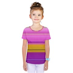 Stripes Colorful Background Colorful Pink Red Purple Green Yellow Striped Wallpaper Kids  One Piece Tee by Simbadda