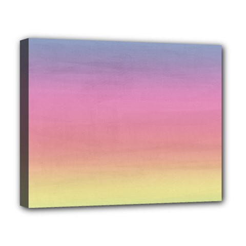 Watercolor Paper Rainbow Colors Deluxe Canvas 20  X 16   by Simbadda