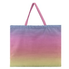 Watercolor Paper Rainbow Colors Zipper Large Tote Bag by Simbadda
