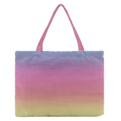 Watercolor Paper Rainbow Colors Medium Zipper Tote Bag by Simbadda