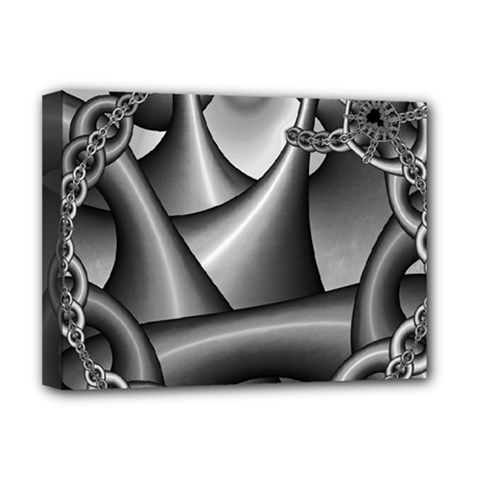 Grey Fractal Background With Chains Deluxe Canvas 16  X 12   by Simbadda
