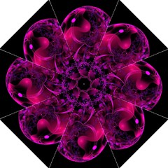 Fractal Using A Script And Coloured In Pink And A Touch Of Blue Straight Umbrellas by Simbadda