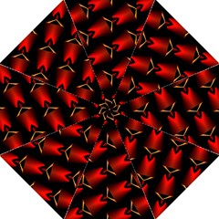 Fractal Background Red And Black Folding Umbrellas by Simbadda