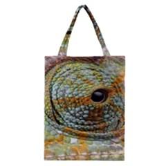 Macro Of The Eye Of A Chameleon Classic Tote Bag by Simbadda