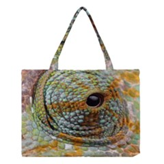 Macro Of The Eye Of A Chameleon Medium Tote Bag by Simbadda