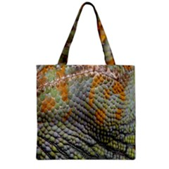 Macro Of Chameleon Skin Texture Background Grocery Tote Bag by Simbadda