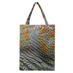 Macro Of Chameleon Skin Texture Background Classic Tote Bag by Simbadda