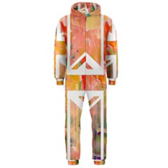 Union Jack Abstract Watercolour Painting Hooded Jumpsuit (men)