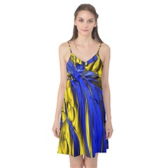 Blue And Gold Fractal Lava Camis Nightgown