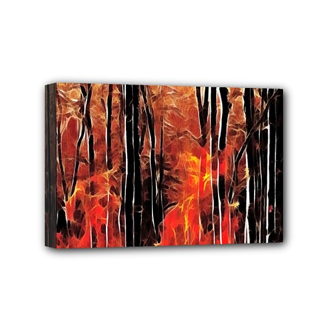 Forest Fire Fractal Background Mini Canvas 6  X 4  by Simbadda
