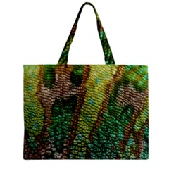 Colorful Chameleon Skin Texture Zipper Mini Tote Bag by Simbadda