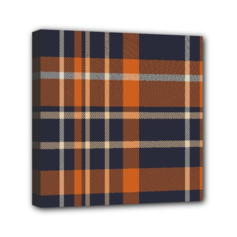 Tartan Background Fabric Design Pattern Mini Canvas 6  X 6  by Simbadda