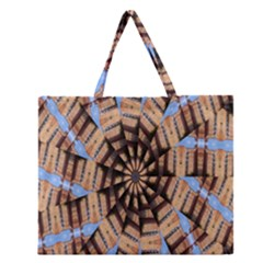 Manipulated Reality Of A Building Picture Zipper Large Tote Bag by Simbadda