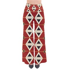 Triangle Arrow Plaid Red Pants by Alisyart