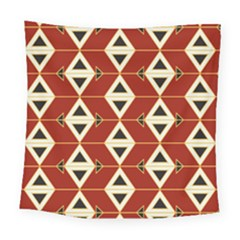 Triangle Arrow Plaid Red Square Tapestry (large) by Alisyart