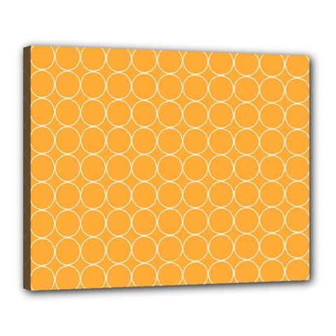 Yellow Circles Canvas 20  X 16  by Alisyart