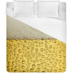 Water Bubbel Foam Yellow White Drink Duvet Cover (california King Size) by Alisyart